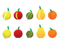 Lemon, Apple, Lime, Pear, Orange. Stock Photography