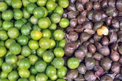 Lemon and Archidendron jiringa Nielsen  (Luk nieng, Djenkol bean fruit). 2 colors vegetable is hamonize Royalty Free Stock Image