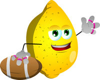 Lemon as American football player Stock Images