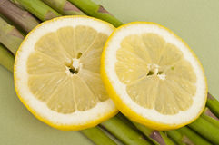 Lemon and Asparagus Stock Photography