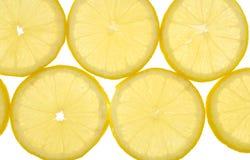 Lemon background. Multiple lemon background on white Royalty Free Stock Image