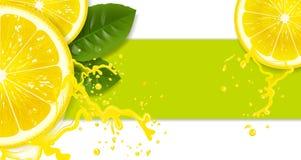 Lemon background. Lemons with drops of juice Stock Image