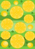 Lemon background - vector Stock Photo