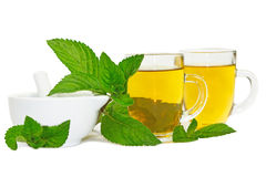 Lemon balm or mint tisane or tea Royalty Free Stock Image