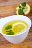 Lemon balm tea  cup Royalty Free Stock Images