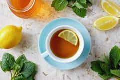 Lemon balm tea with honey Stock Image