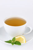 Lemon balm tea with lemon Stock Images