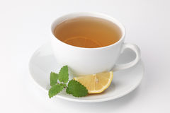 Lemon balm tea with lemon Royalty Free Stock Photo