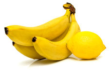Lemon and banana 2 Royalty Free Stock Images