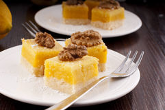 Lemon bars Stock Photography