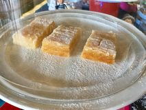 Lemon Bars Display. Dessert bars, or simply bars or squares, are a type of American & x22;bar cookie& x22; that has the texture of a firm cake or softer than stock photography
