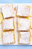 Lemon bars, top view Stock Photo