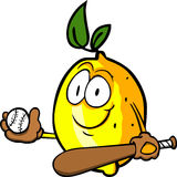 Lemon Baseball Batter Royalty Free Stock Images