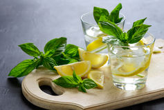 Lemon and basil drink Royalty Free Stock Photography
