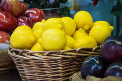 Lemon Basket Stock Image