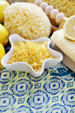Lemon bath salt Stock Photography