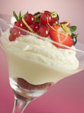Lemon and Berry Syllabub Royalty Free Stock Photos