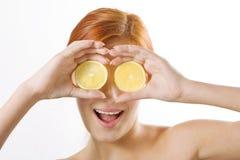 Lemon binoculars Royalty Free Stock Photography