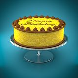 Lemon birthday cake Stock Image