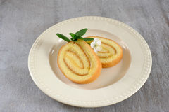 Lemon biscuit roll Stock Images
