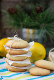 Lemon biscuits. Christmas composition Royalty Free Stock Photography