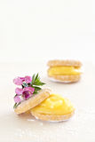 Lemon biscuits with lemoncurd Stock Photo