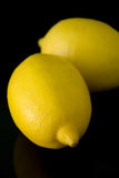 Lemon on black Royalty Free Stock Photo
