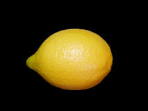 Lemon on black. Royalty Free Stock Photos