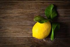 Lemon  on black Stock Photo