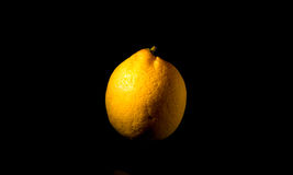 Lemon. On black backdrop Stock Photography