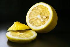 Lemon on black background Royalty Free Stock Image