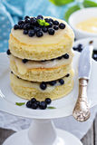 Lemon blueberry layer cake Royalty Free Stock Photo