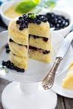 Lemon blueberry layer cake Stock Photography