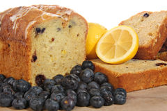 Lemon blueberry loaf Stock Photos