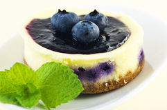 Lemon blueberry tart Royalty Free Stock Image