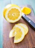 Lemon on board Royalty Free Stock Photos