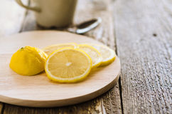 Lemon on the board Royalty Free Stock Images
