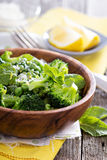 Lemon broccoli with peas and mint Royalty Free Stock Photos