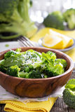 Lemon broccoli with peas and mint Stock Images
