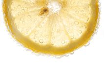 Lemon with bubbles Stock Images
