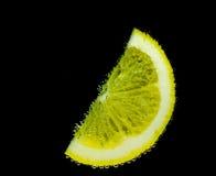 Lemon with bubbles Stock Image