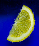 Lemon with bubbles Royalty Free Stock Images