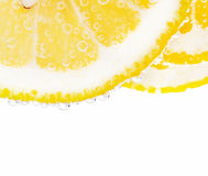 Lemon with bubbles Royalty Free Stock Photos