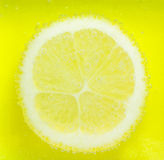 Lemon with bubbles Royalty Free Stock Photo