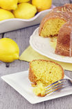 Lemon Bundt Cake Royalty Free Stock Photography