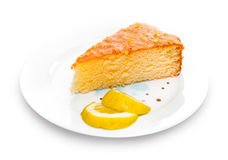 Lemon butter cake Stock Image