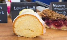 Lemon butter cake Royalty Free Stock Images