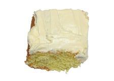 Lemon cake. Closeup of lemon cake on white background Stock Image