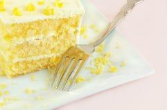 Lemon Cake Stock Photo