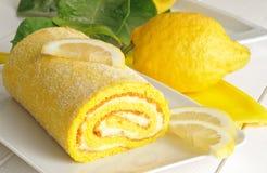 Lemon cake, close-up Stock Image